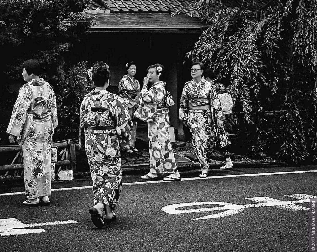 Women wearing kimono Photo in Kyoto, Japan, by Muntaka Chasant