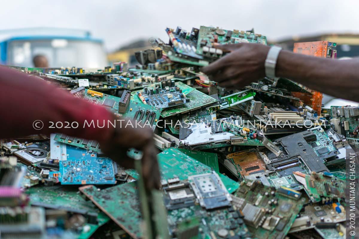 March 2020 — Dismantled Computer parts at Agbogbloshie, Ghana. © 2020 Muntaka Chasant