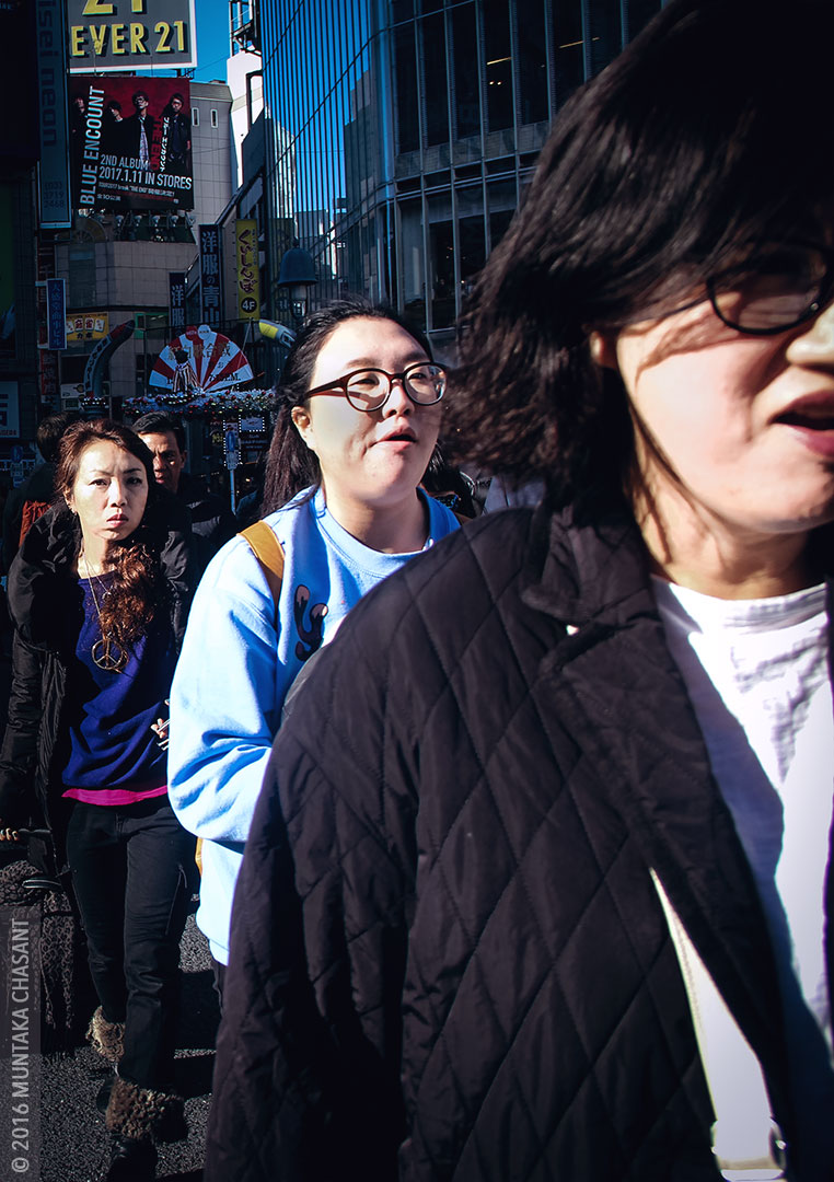 Tokyo Street Photography: Shibuya zebra crossing in Tokyo, Japan. © 2016 Muntaka Chasant