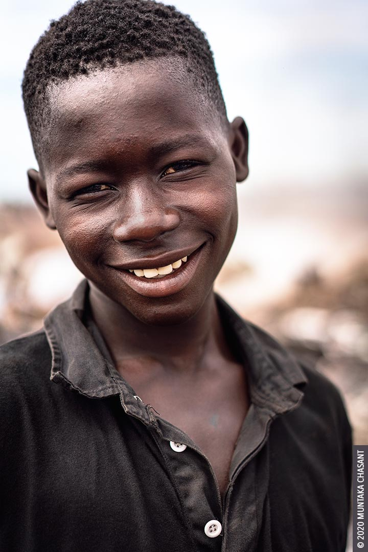Joseph Akwah, 17 years old, is engaged in hazardous child labour at Agbogbloshie, Ghana. The minimum age for hazardous work in Ghana is 18, according to Section 91 of Ghana's Children's Act (560). © 2020 Muntaka Chasant