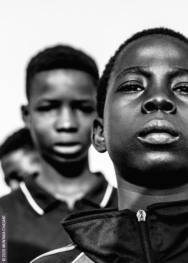 Poor children: Kwaku Frimpong (right), 12 years old, is an urban poor engaged in hazardous child labour on the fringes of Accra, Ghana's capital city. © 2020 Muntaka Chasant