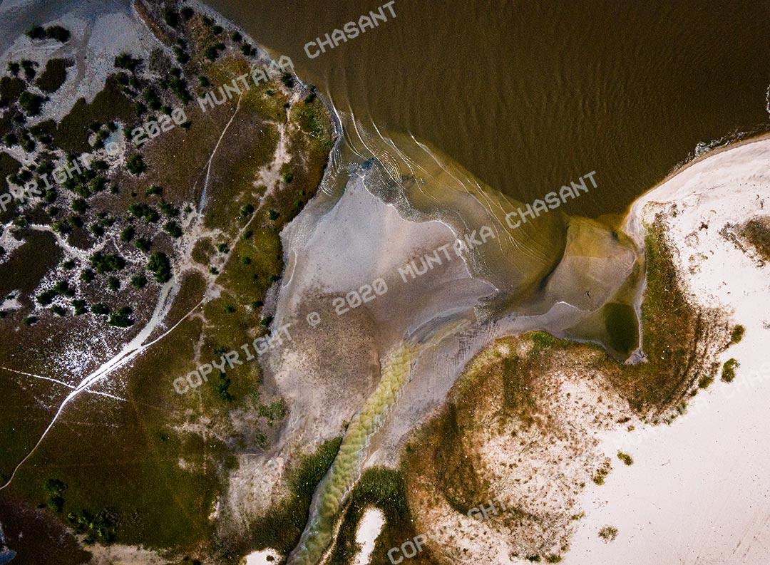 Mavic Air 2 photo samples: Aerial view of estuarine ecology. Accra, Ghana. Copyright © 2020 Muntaka Chasant