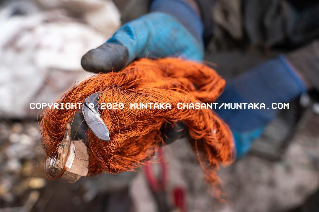 Copper image. Agbogbloshie. Copyright © 2020 Muntaka Chasant
