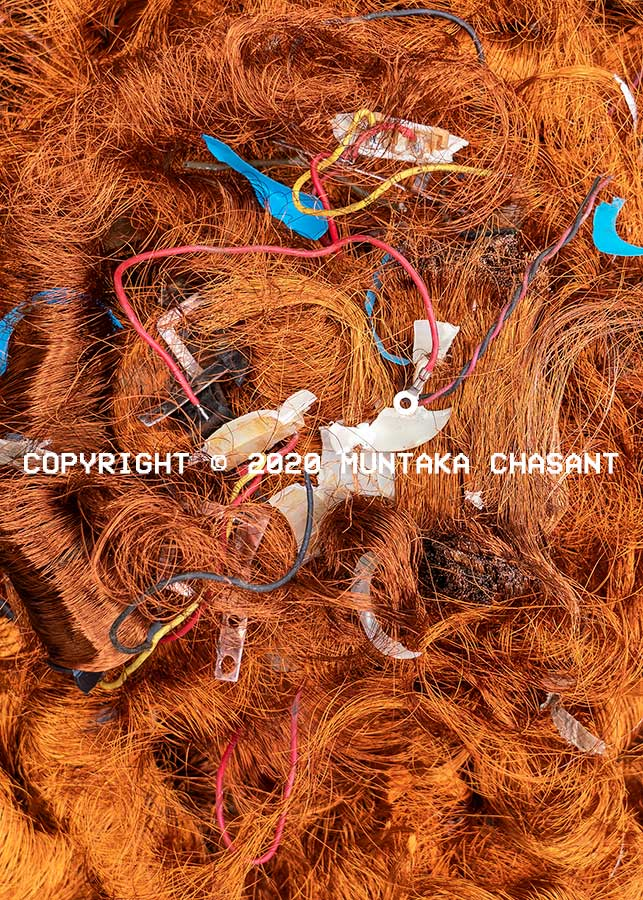 Scrap copper from electronic transformers. Agbogbloshie, Ghana. Copyright © 2020 Muntaka Chasant