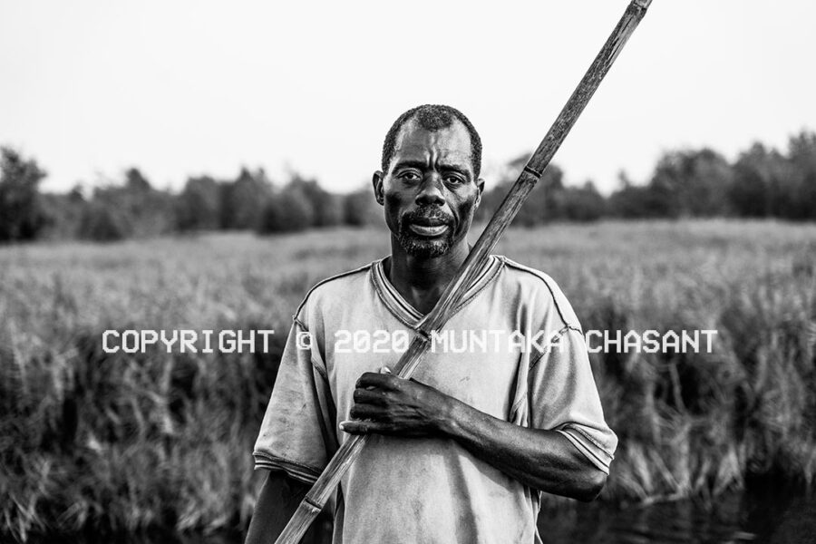 David Kpaligah (above), 49 years, is a crab and lagoon tilapia fisherman in Accra, Ghana's capital city. Copyright © 2020 Muntaka Chasant