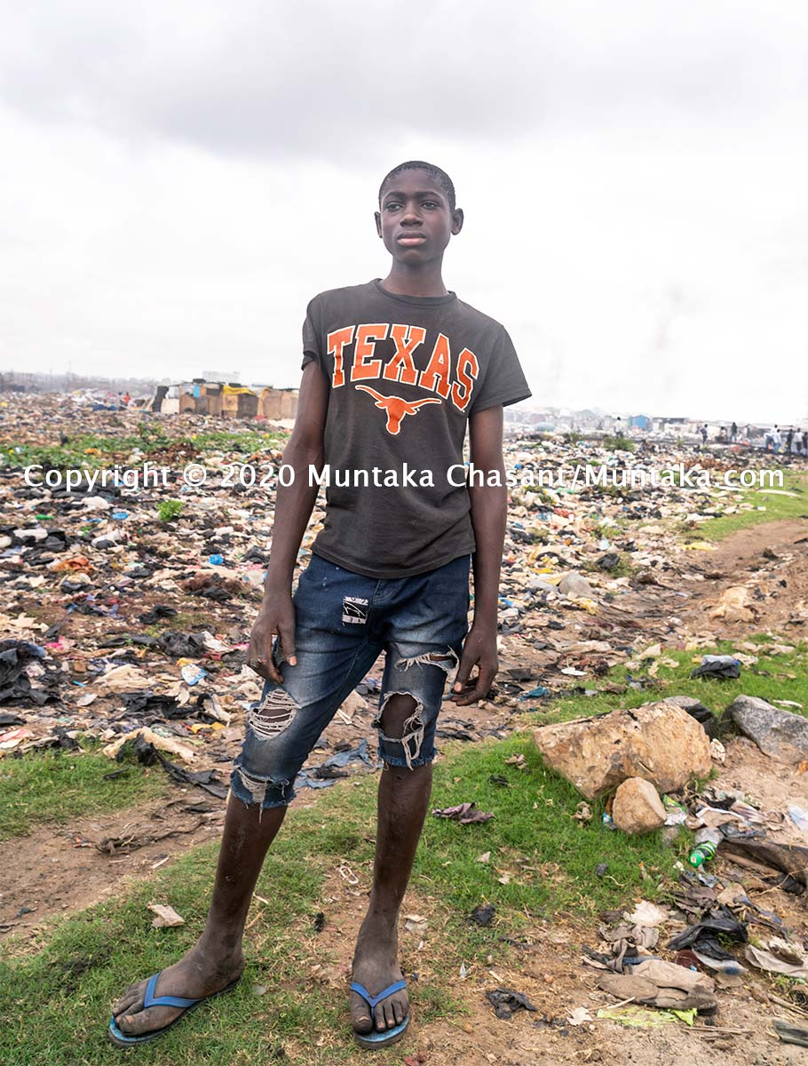 Child labour: 14-year-old child labourer Benjamin Duodu in Accra, Ghana's capital city. More than 31 million children in Africa are in hazardous child labour, the ILO estimates show. Copyright © 2020 Muntaka Chasant