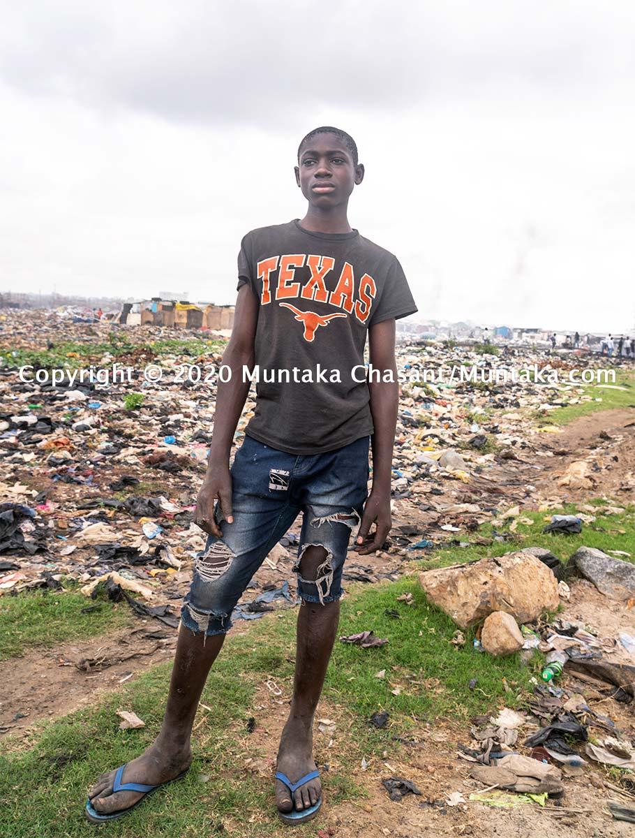 Child labour: 14-year-old child labourer Benjamin Baidoo in Accra, Ghana's capital city. More than 31 million children in Africa are in hazardous child labour, the ILO estimates show. Copyright © 2020 Muntaka Chasant