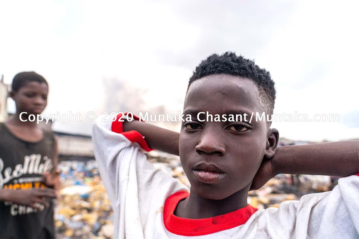 Ibrahim Tanko, 11, is engaged in hazardous child labour at Agbogbloshie. Copyright © 2020 Muntaka Chasant