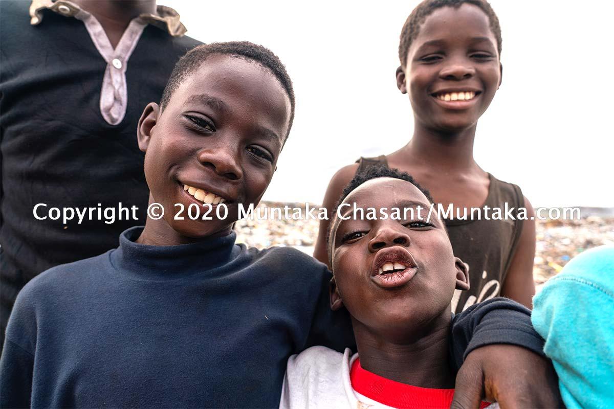 Children engaged in child labour having fun. Copyright © 2020 Muntaka Chasant