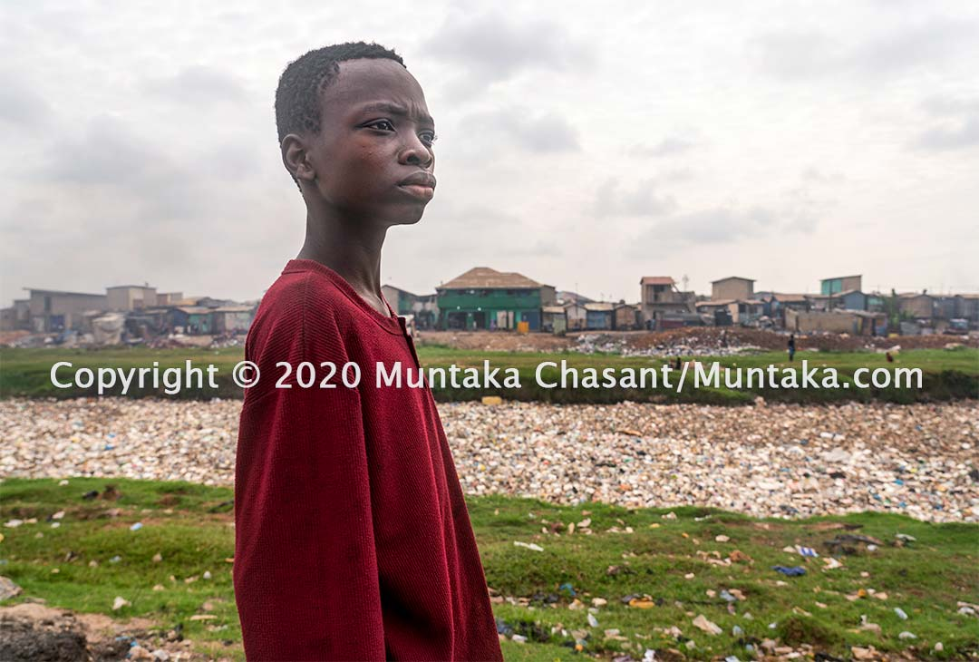 13-year-old Junior Adama is engaged in hazardous child labour in Accra, Ghana. Copyright © 2020 Muntaka Chasant