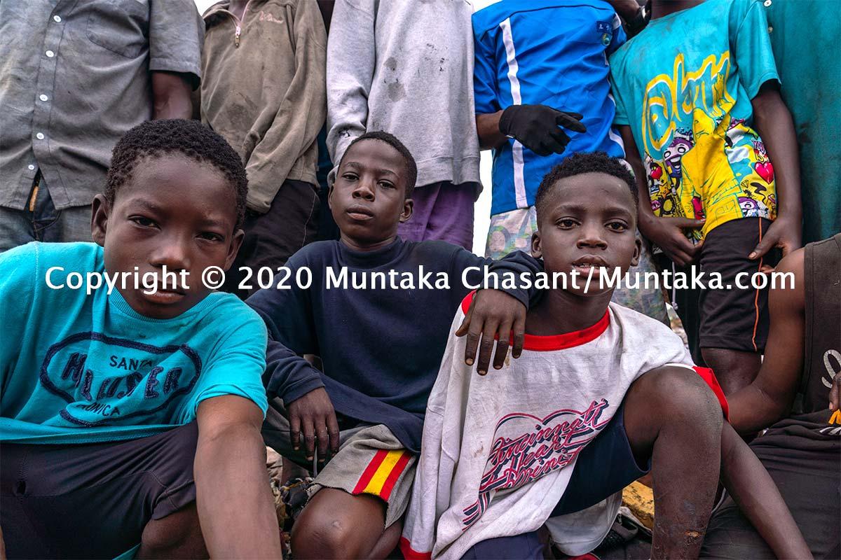 Children engaged in hazardous child labour. Agbogbloshie, Ghana. Copyright © 2020 Muntaka Chasant