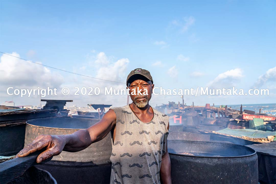 Eric Kudjuh is a 59 years old fish processor in Accra, Ghana's capital. More than 2 million people in Ghana rely on the fisheries sector as a source of jobs. Copyright © 2020 Muntaka Chasant
