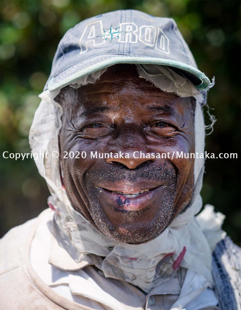 76 years old African fisherman smile for the camera. Copyright © Muntaka Chasant