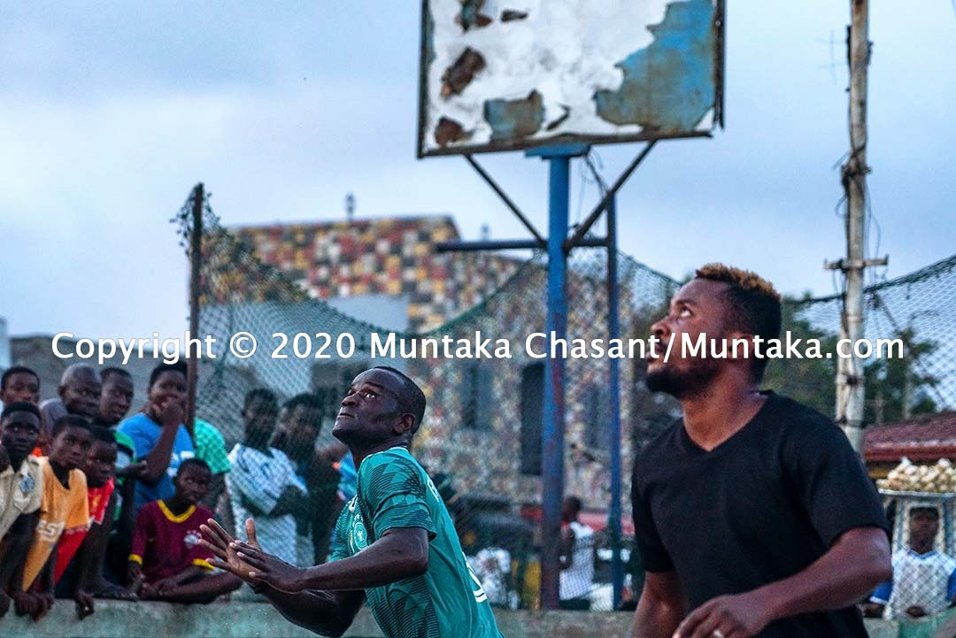 Street football: The former International Boxing Federation Welterweight champion Joseph Clottey plays street football with Jamestown residents in Accra, Ghana. Copyright © 2020 Muntaka Chasant