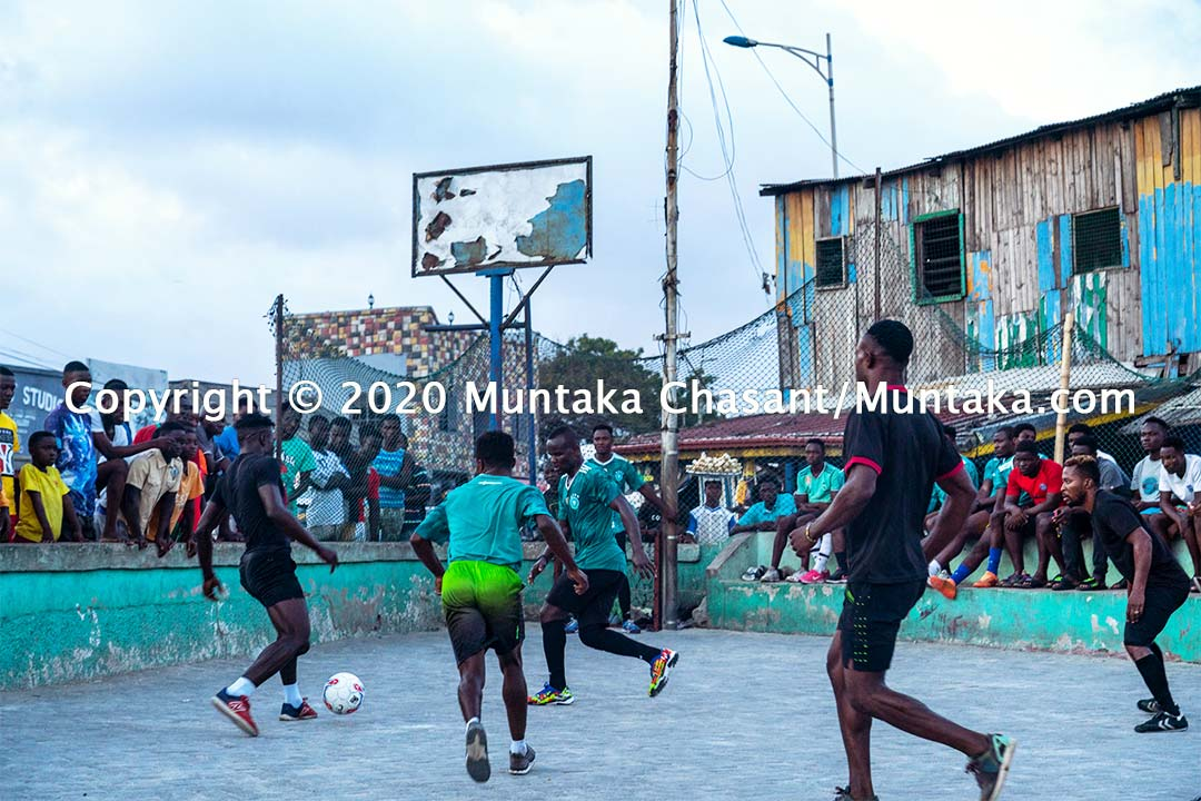 Street football in Ghana. Copyright © 2020 Muntaka Chasant