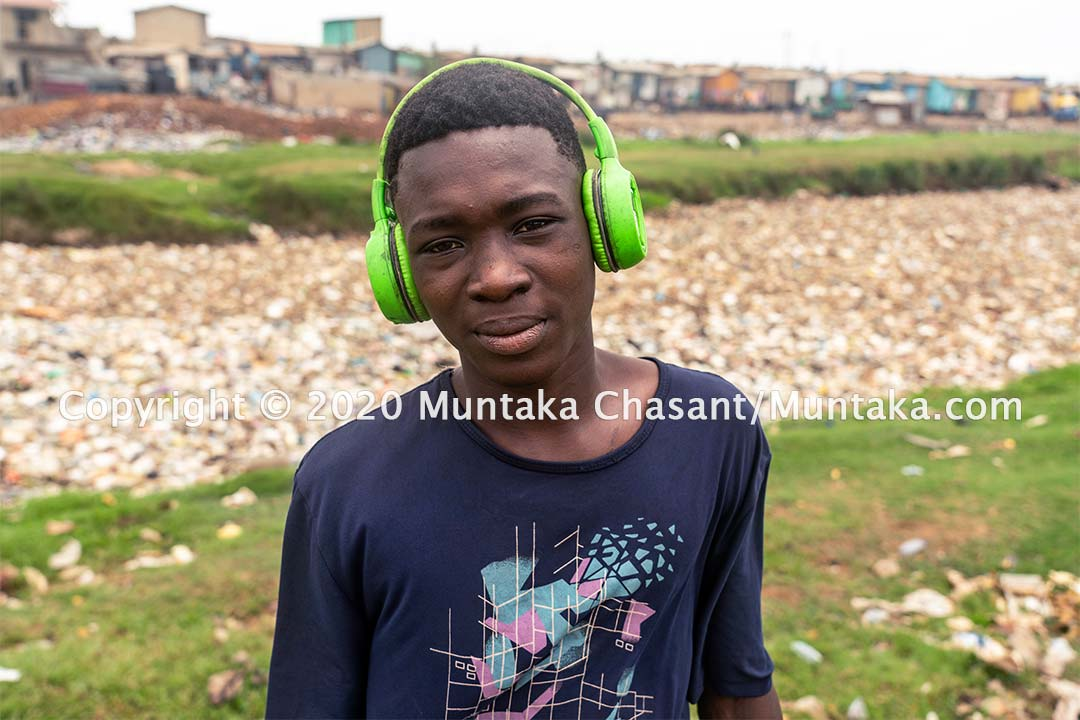 Kwadjo Esien, 14 years old, is engaged in hazardous child labour on the fringes of Accra, Ghana's capital city. Copyright © 2020 Muntaka Chasant