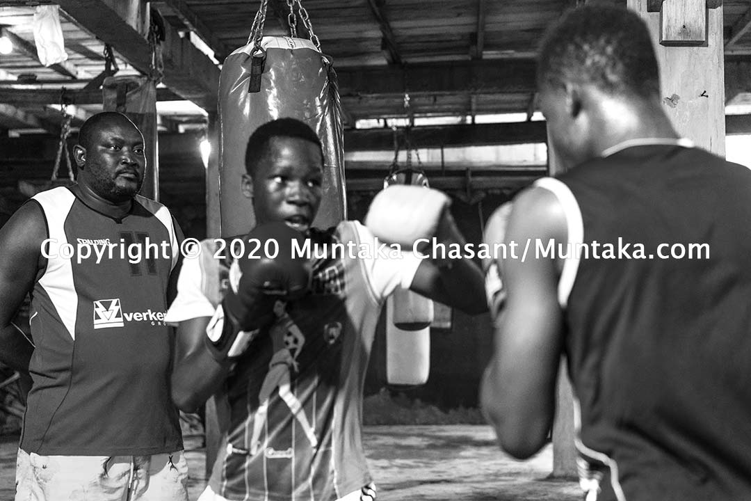 Youth boxing in Ghana: Charles Quartey, a Ghanian former professional boxer, trains young people from low-income communities in Accra to fight. Copyright © 2020 Muntaka Chasant