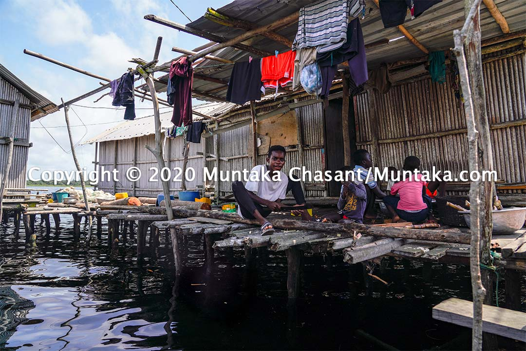 Life at the Nzulezo (Nzulenzu) stilt village in Ghana. Copyright © 2020 Muntaka Chasant