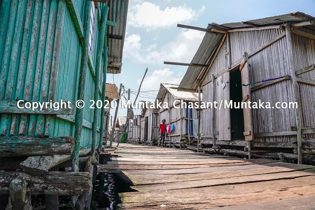 Nzulezo stilt settlement in Western Ghana. Copyright © 2020 Muntaka Chasant