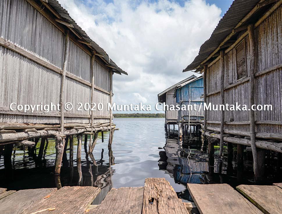 Nzulezo stilt village in Ghana. Copyright © 2020 Muntaka Chasant