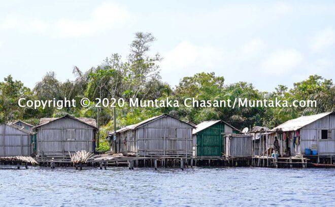 Nzulezo is a stilt settlement in the Jomoro District in Western Ghana. Copyright © 2020 Muntaka Chasant