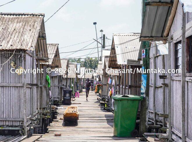 Nzulezo stilt settlement in Ghana. Jomoro District, Western Ghana. Copyright © 2020 Muntaka Chasant