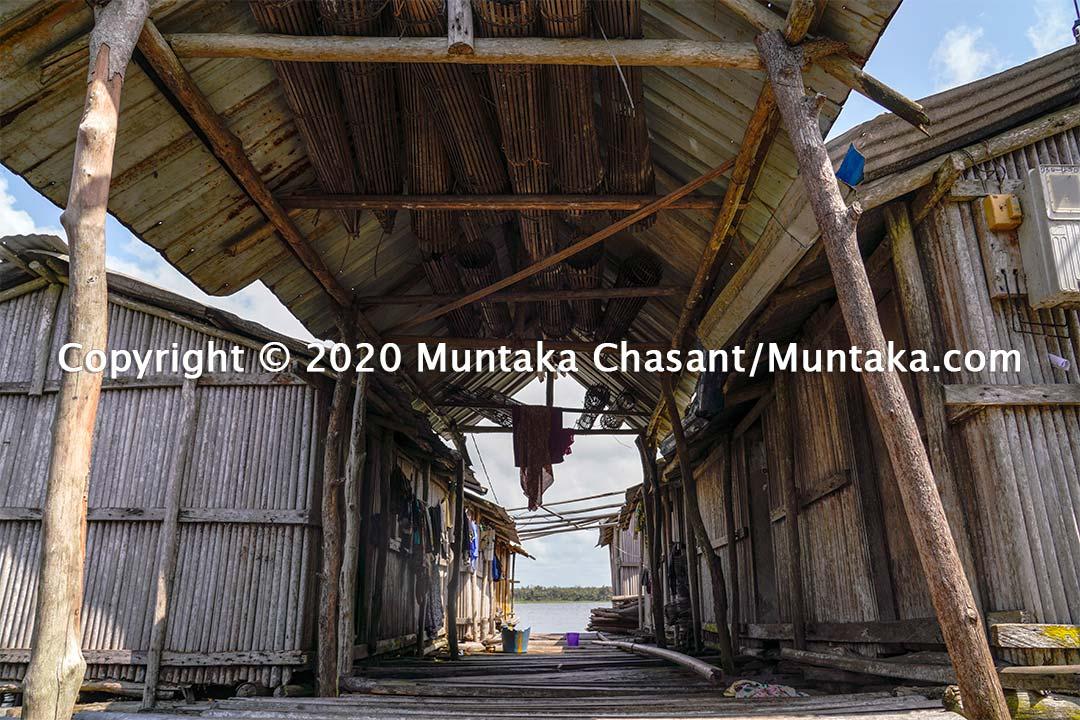Structures at the Nzulezo stilt village in the Western Region of Ghana. Copyright © 2020 Muntaka Chasant