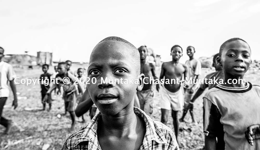 Slum children photo. Copyright © 2020 Muntaka Chasant