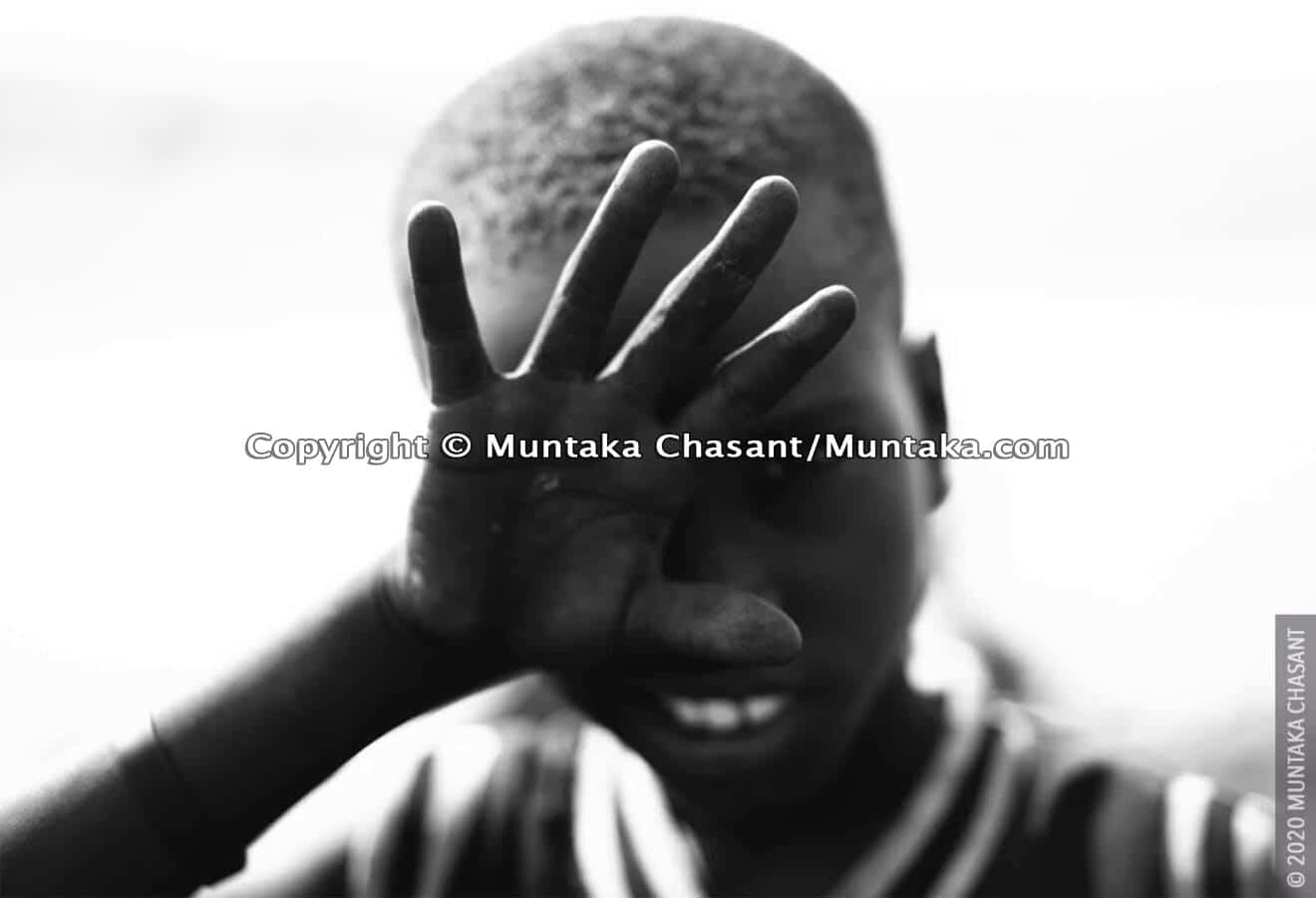 Agbogbloshie children: 9-year-old Kwado is engaged in hazardous child labour at Agbogbloshie, Ghana. © 2020 Muntaka Chasant