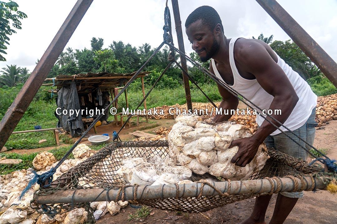 Natural rubber middleman in Ghana. Copyright © 2021 Muntaka Chasant
