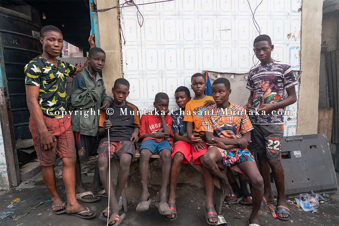 Urban poor children, Accra, Ghana. Copyright © 2021 Muntaka Chasant
