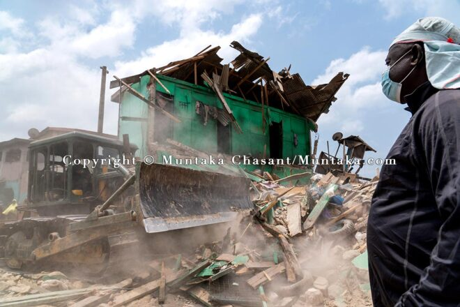 Sections of the Old Fadama are being demolished 5 weeks after the demolition of the Agbogbloshie Scrapyard. Copyright © Muntaka Chasant